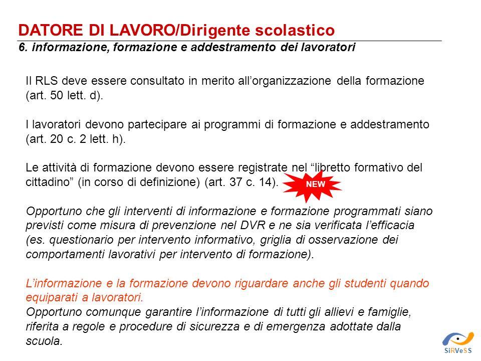 DATORE DI LAVORO/Dirigente scolastico