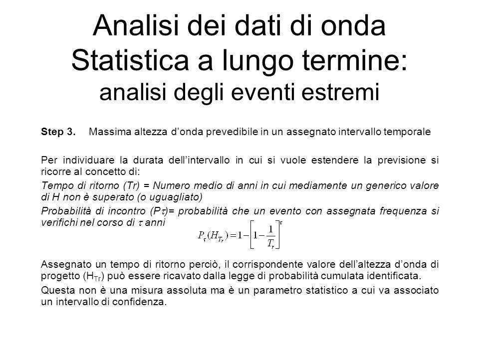 Analisi dei dati di onda Statistica a lungo termine: analisi degli eventi estremi