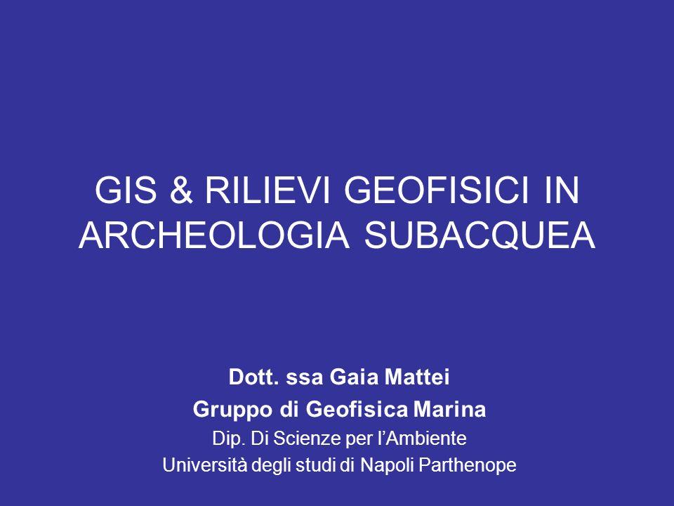 GIS & RILIEVI GEOFISICI IN ARCHEOLOGIA SUBACQUEA