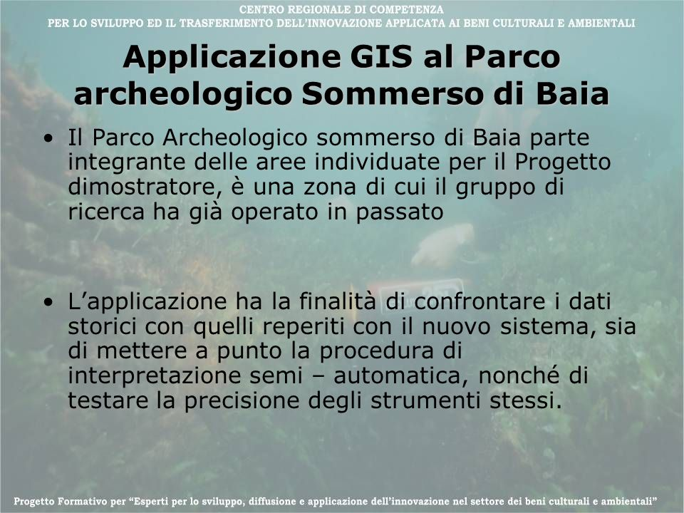 Applicazione GIS al Parco archeologico Sommerso di Baia