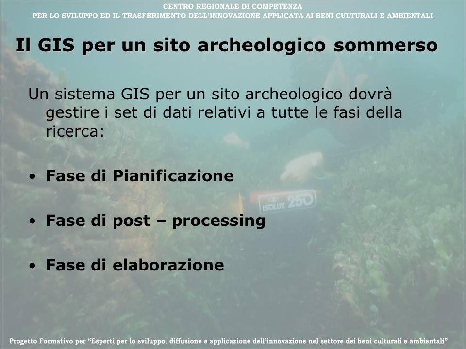 Il GIS per un sito archeologico sommerso