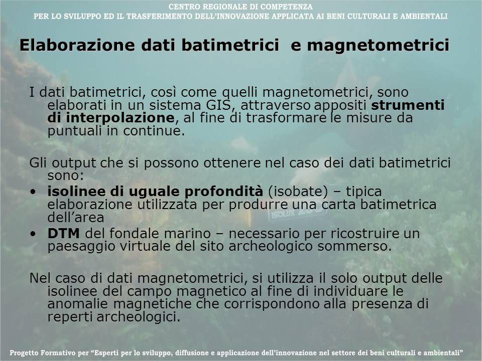 Elaborazione dati batimetrici e magnetometrici