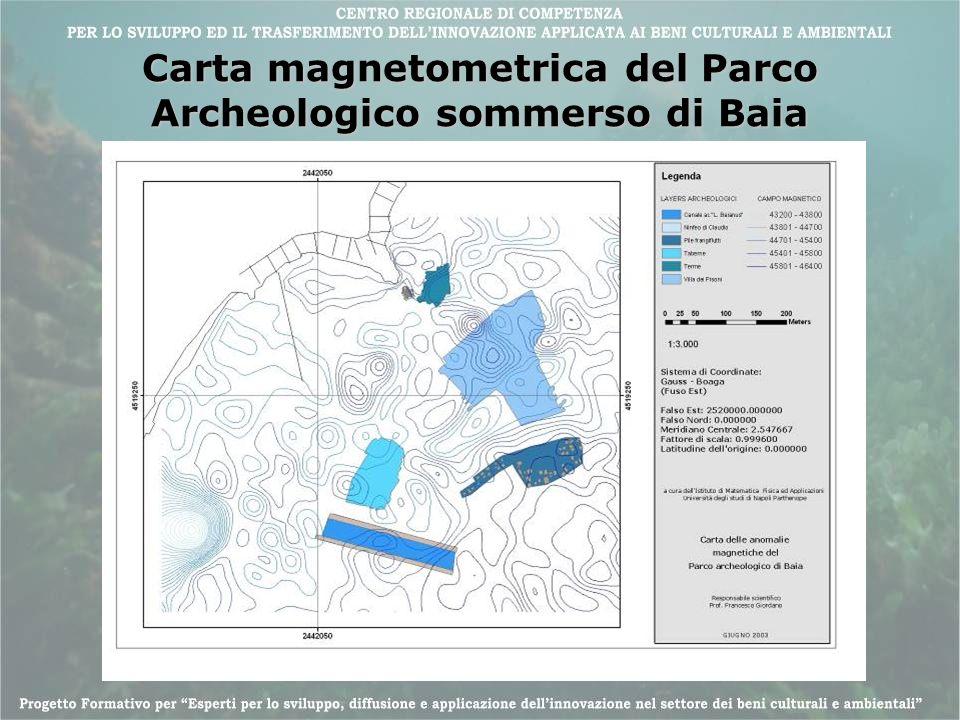 Carta magnetometrica del Parco Archeologico sommerso di Baia