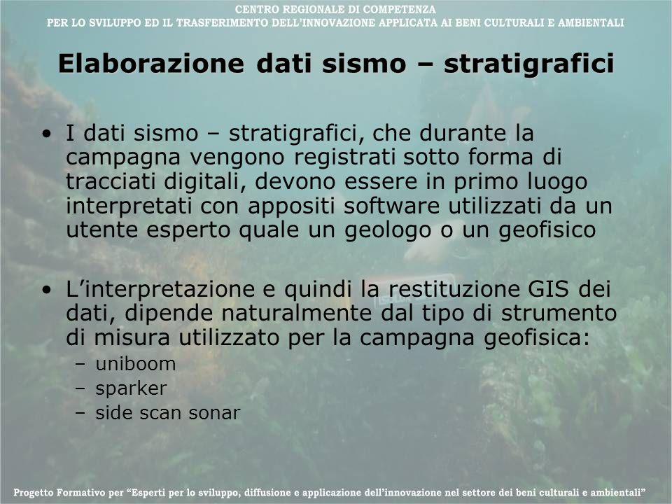 Elaborazione dati sismo – stratigrafici