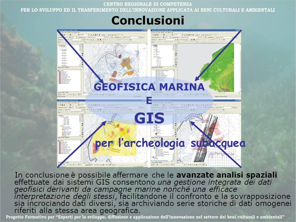 GIS Conclusioni per l'archeologia subacquea GEOFISICA MARINA E