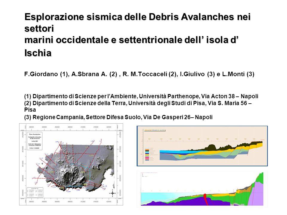 Esplorazione sismica delle Debris Avalanches nei settori marini occidentale e settentrionale dell' isola d' Ischia F.Giordano (1), A.Sbrana A.