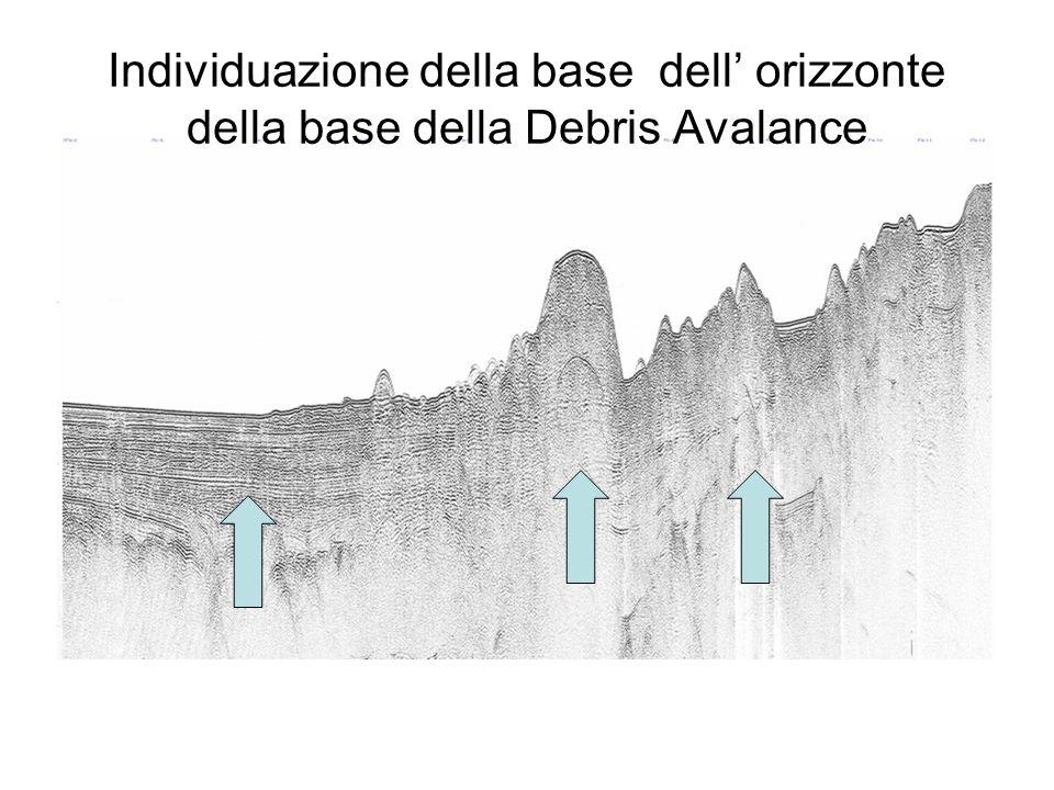 Individuazione della base dell' orizzonte della base della Debris Avalance