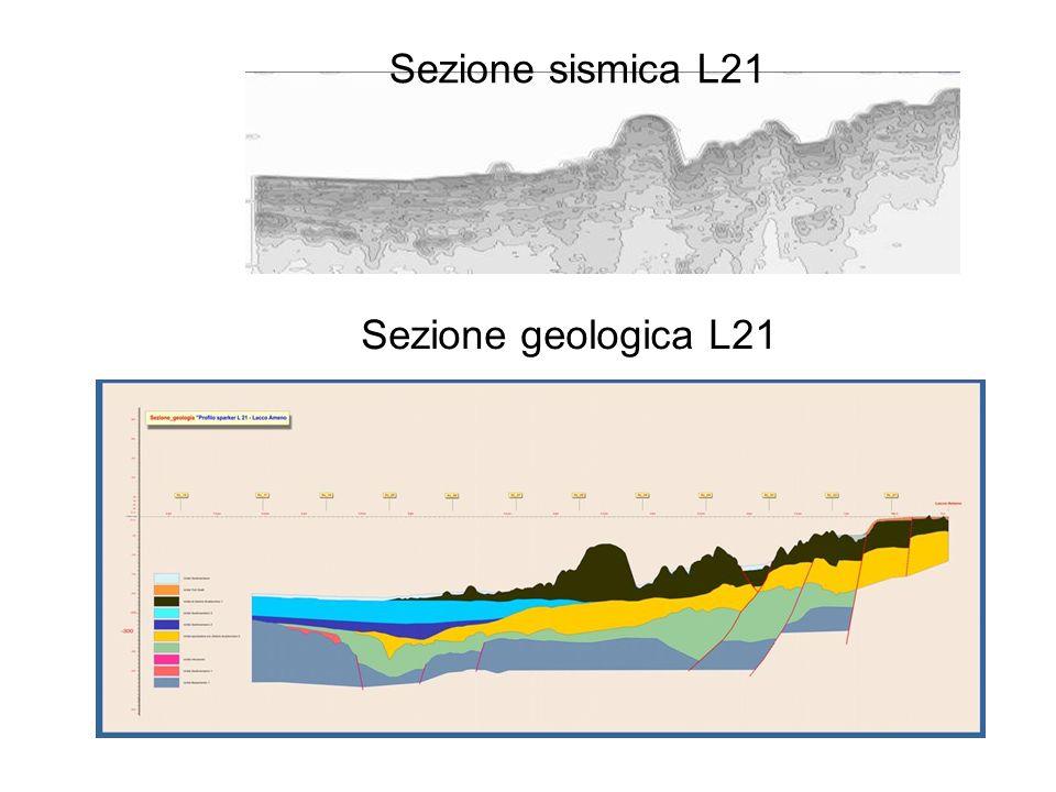 Sezione sismica L21 Sezione geologica L21