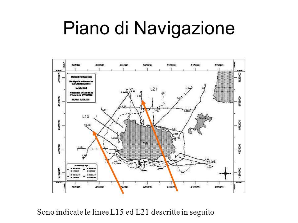 Piano di Navigazione Sono indicate le linee L15 ed L21 descritte in seguito