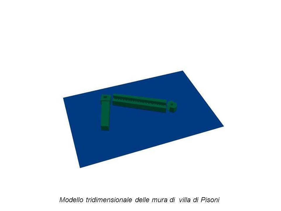 Modello tridimensionale delle mura di villa di Pisoni