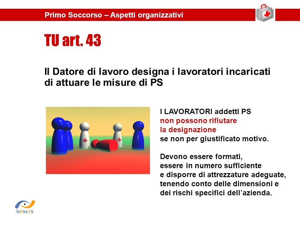 TU art. 43 Il Datore di lavoro designa i lavoratori incaricati