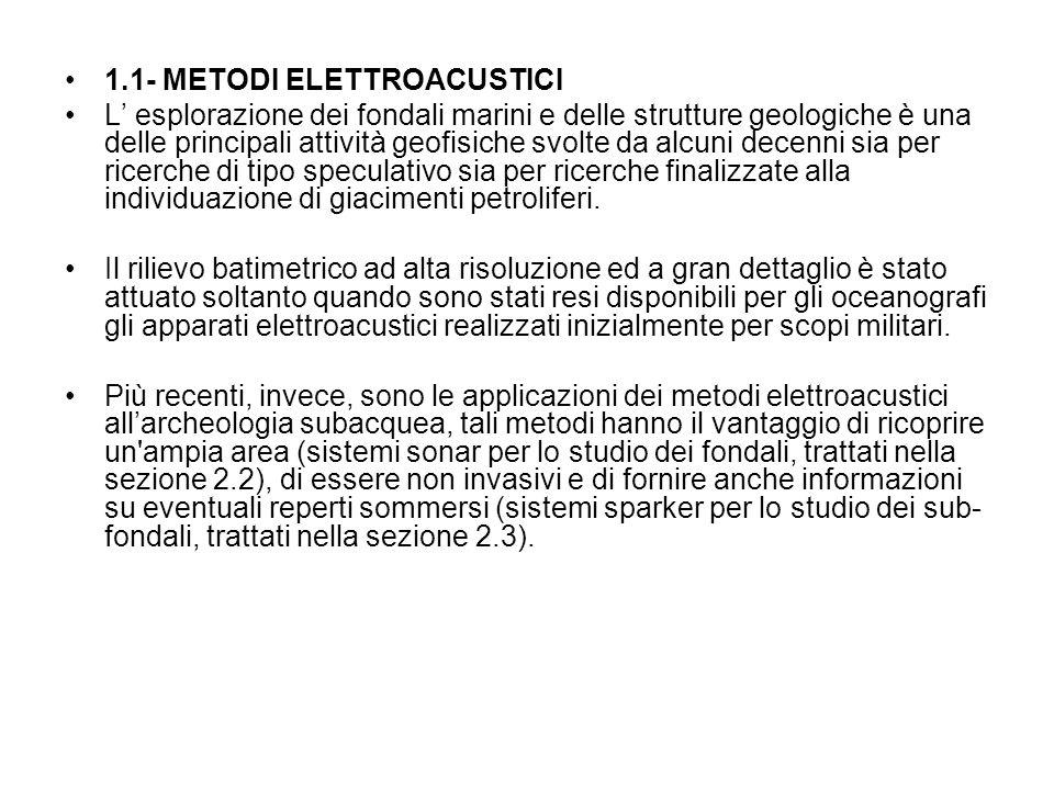 1.1- METODI ELETTROACUSTICI