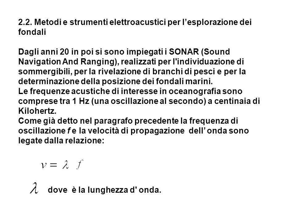 2.2. Metodi e strumenti elettroacustici per l'esplorazione dei fondali