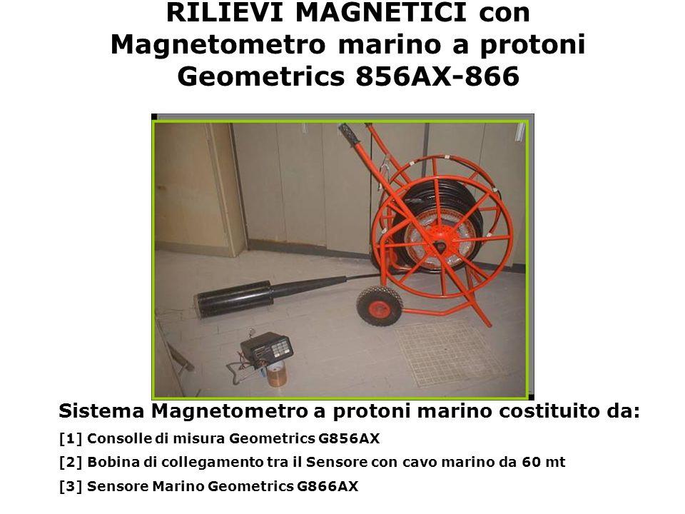RILIEVI MAGNETICI con Magnetometro marino a protoni Geometrics 856AX-866