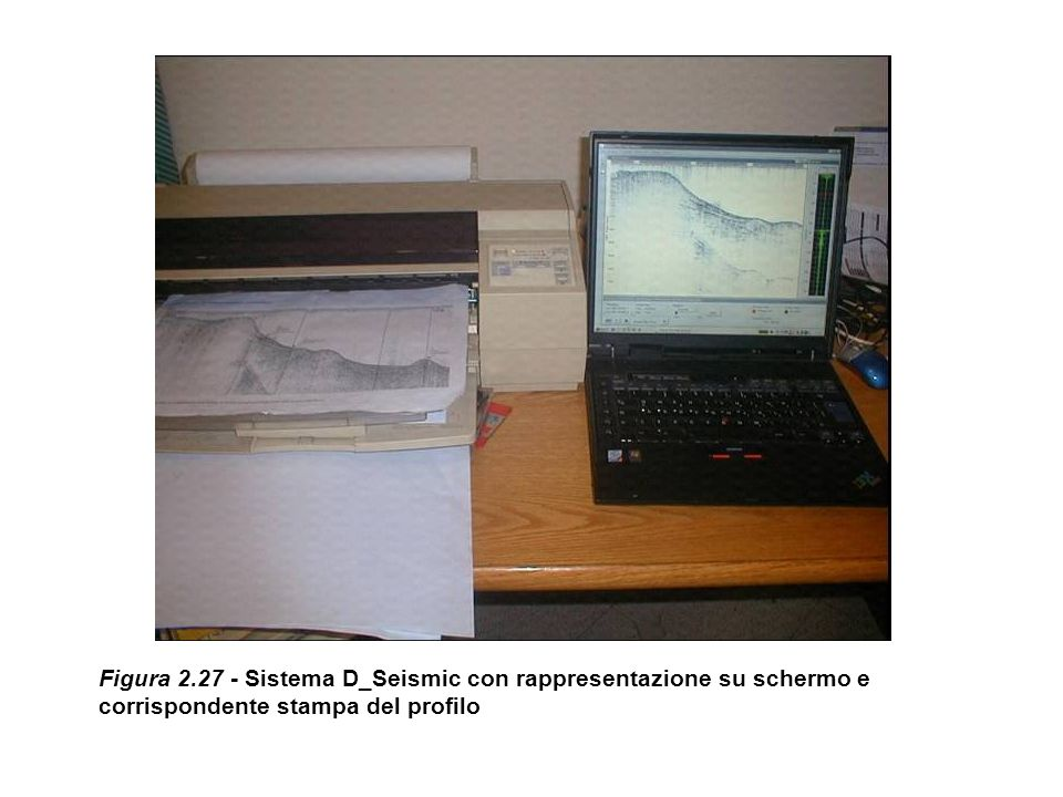 Figura 2.27 - Sistema D_Seismic con rappresentazione su schermo e corrispondente stampa del profilo