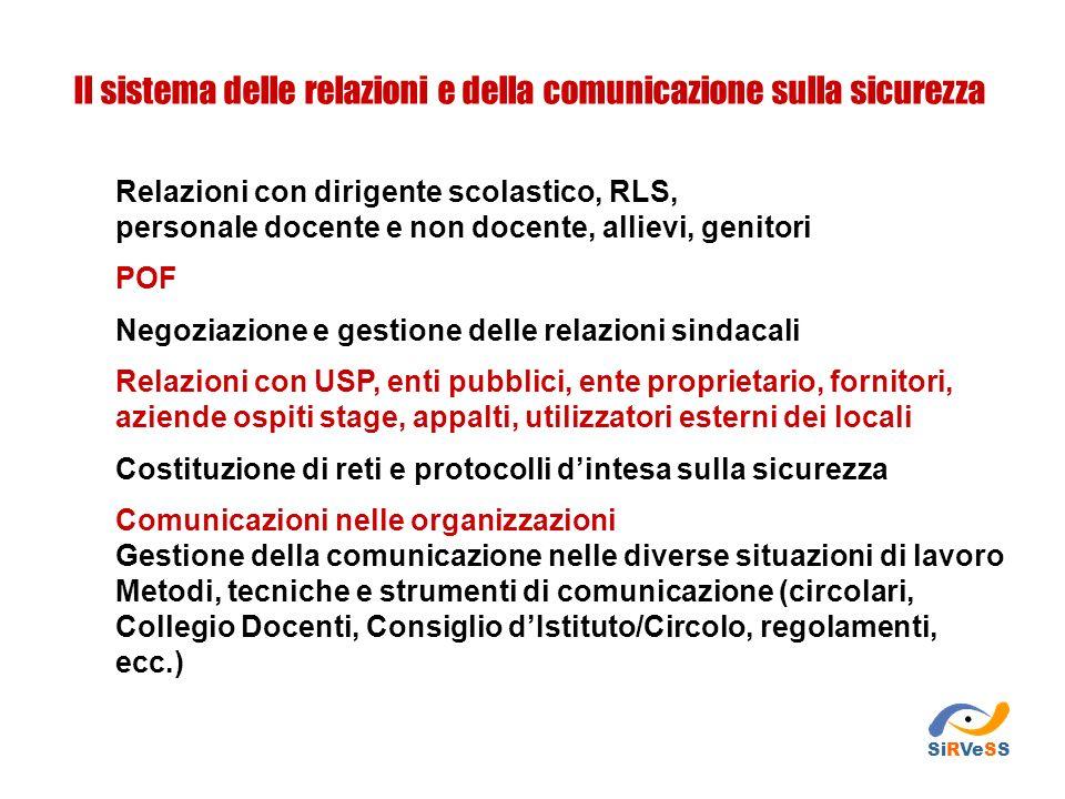 Il sistema delle relazioni e della comunicazione sulla sicurezza