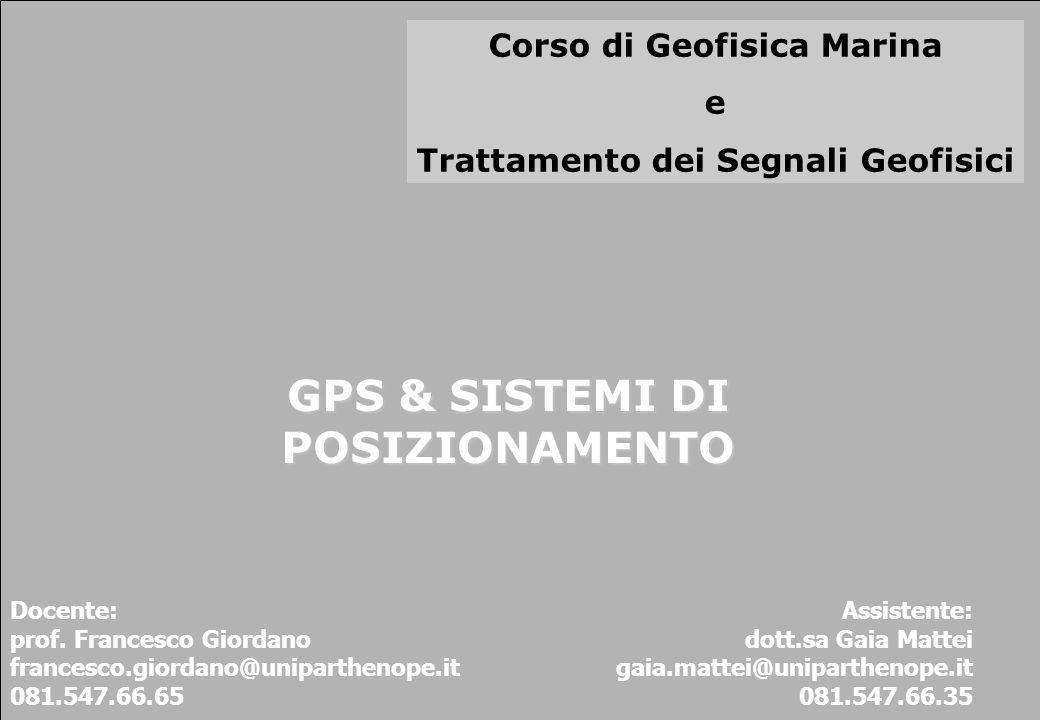 GPS & SISTEMI DI POSIZIONAMENTO