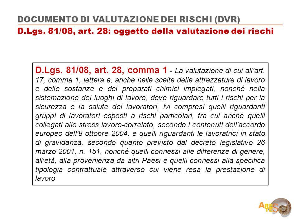 DOCUMENTO DI VALUTAZIONE DEI RISCHI (DVR)
