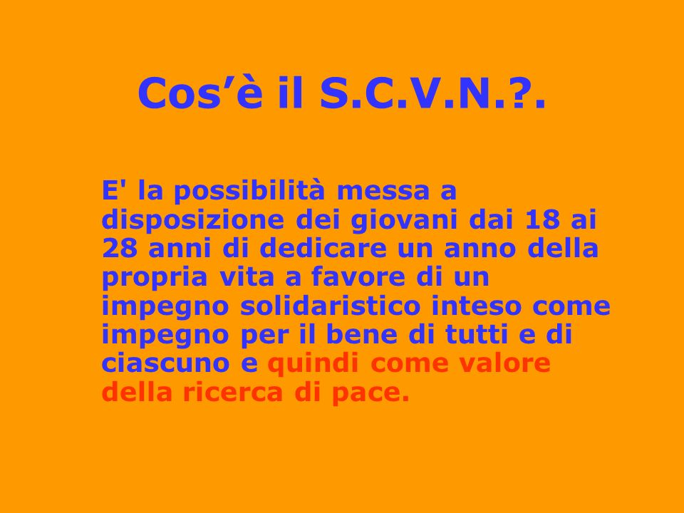 Cos'è il S.C.V.N. .