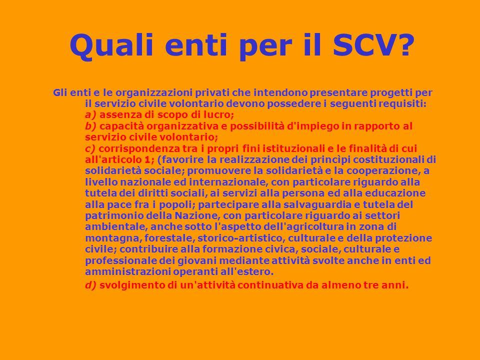 Quali enti per il SCV