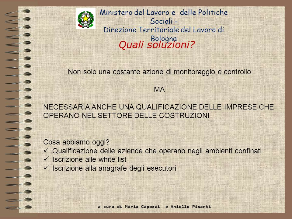 Quali soluzioni Ministero del Lavoro e delle Politiche Sociali -