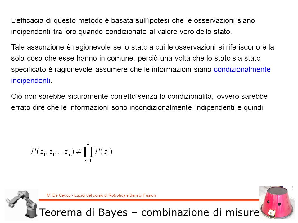 Teorema di Bayes – combinazione di misure