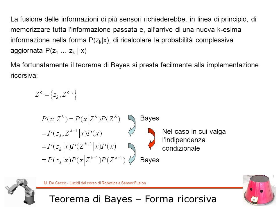 Teorema di Bayes – Forma ricorsiva