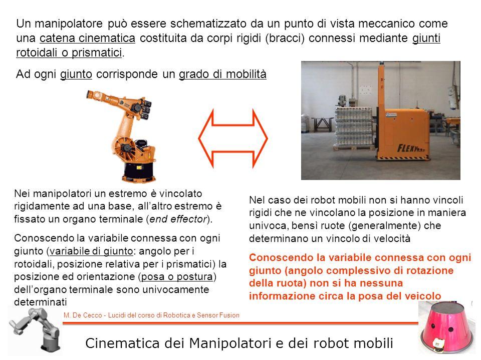 Cinematica dei Manipolatori e dei robot mobili
