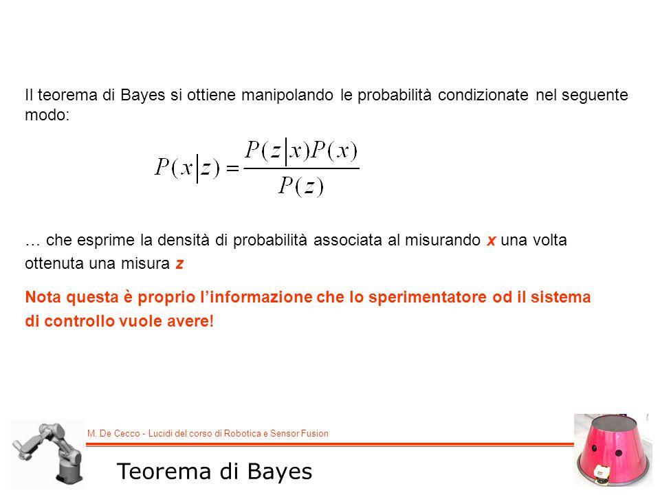Il teorema di Bayes si ottiene manipolando le probabilità condizionate nel seguente modo: