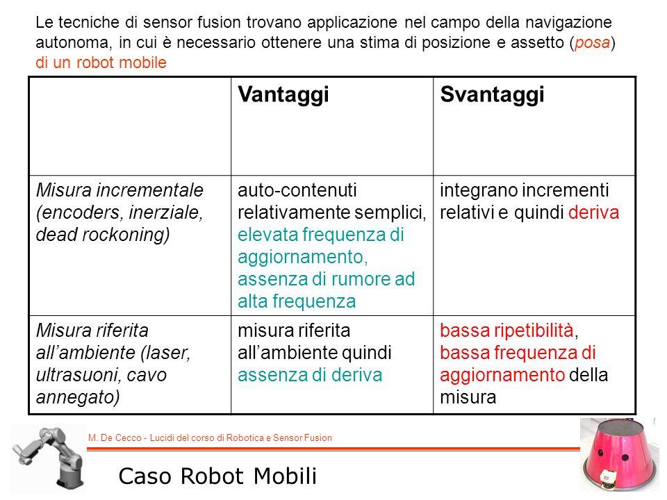 Vantaggi Svantaggi Caso Robot Mobili
