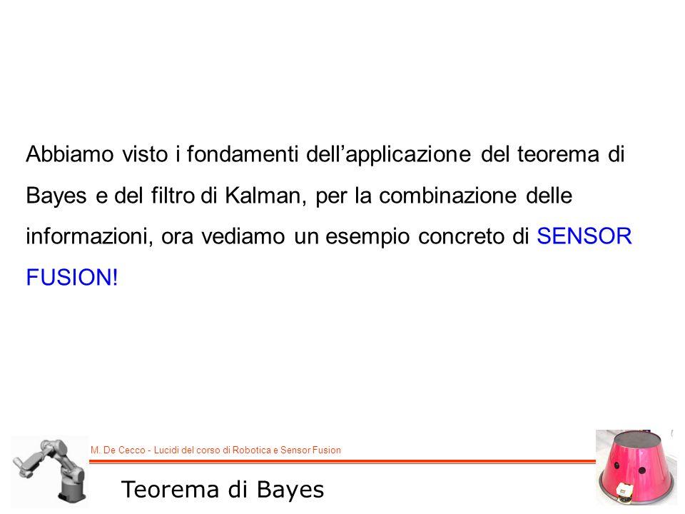 Abbiamo visto i fondamenti dell'applicazione del teorema di Bayes e del filtro di Kalman, per la combinazione delle informazioni, ora vediamo un esempio concreto di SENSOR FUSION!