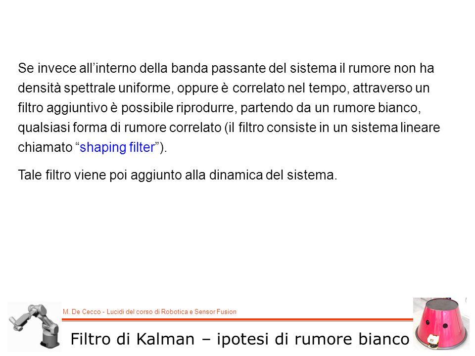 Filtro di Kalman – ipotesi di rumore bianco