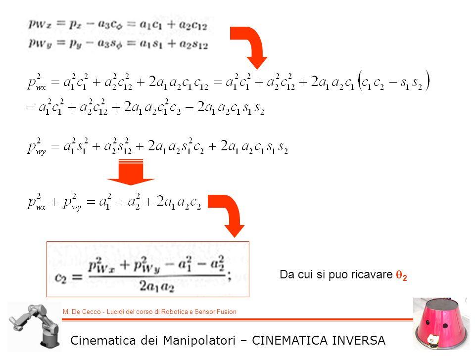 Da cui si puo ricavare 2 Cinematica dei Manipolatori – CINEMATICA INVERSA