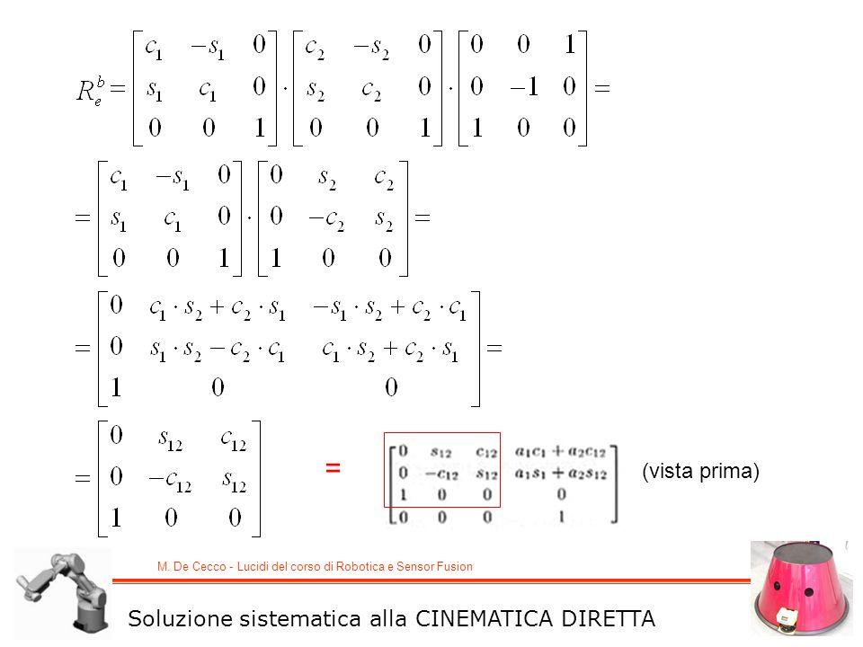 = (vista prima) Soluzione sistematica alla CINEMATICA DIRETTA