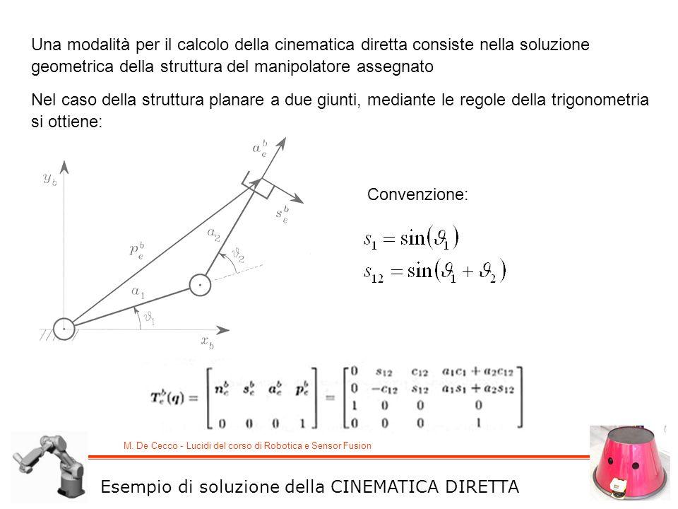 Una modalità per il calcolo della cinematica diretta consiste nella soluzione geometrica della struttura del manipolatore assegnato