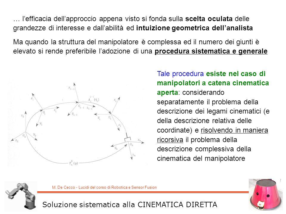 … l'efficacia dell'approccio appena visto si fonda sulla scelta oculata delle grandezze di interesse e dall'abilità ed intuizione geometrica dell'analista