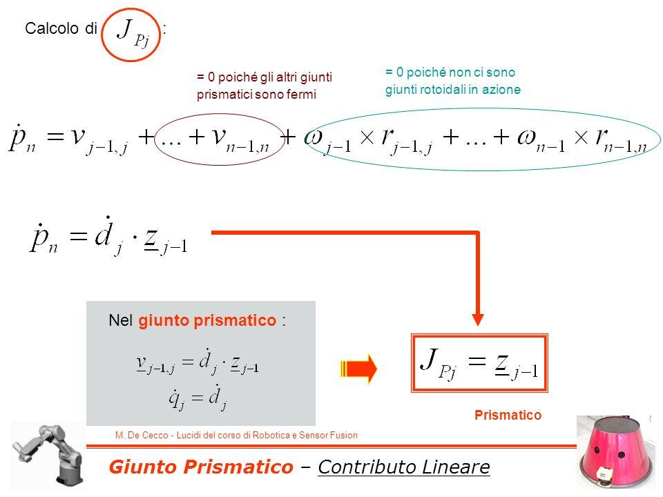 Giunto Prismatico – Contributo Lineare