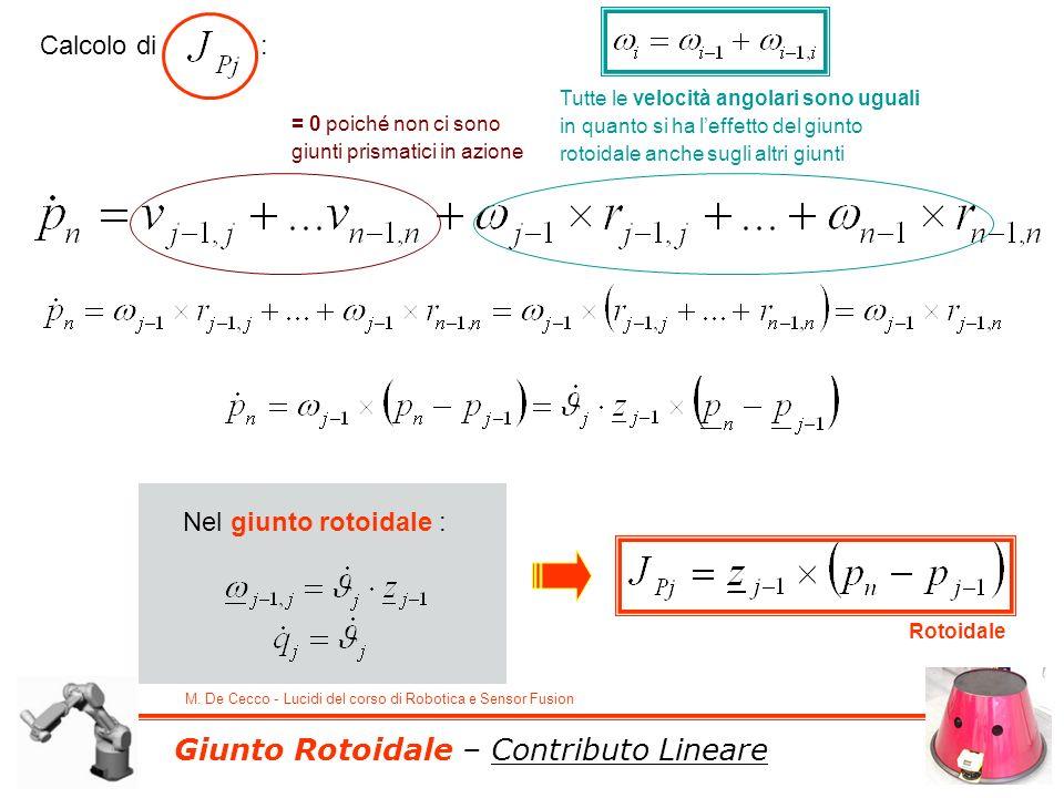Giunto Rotoidale – Contributo Lineare