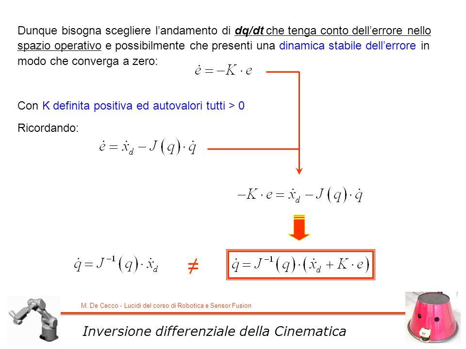 ≠ Inversione differenziale della Cinematica