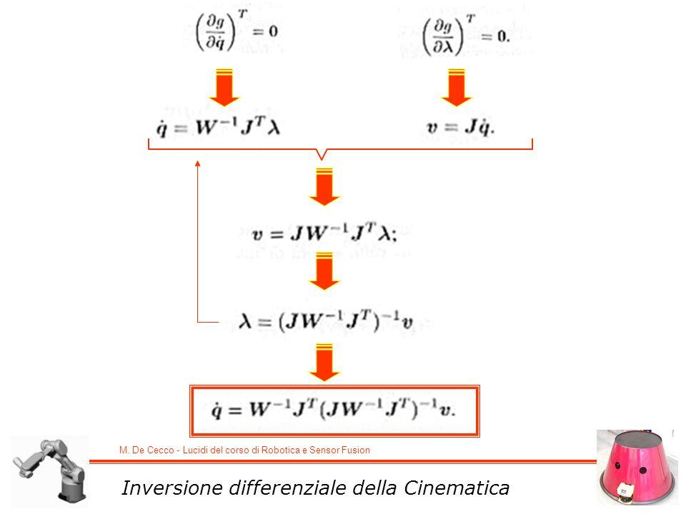 Inversione differenziale della Cinematica
