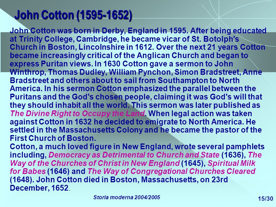 John Cotton (1595-1652)