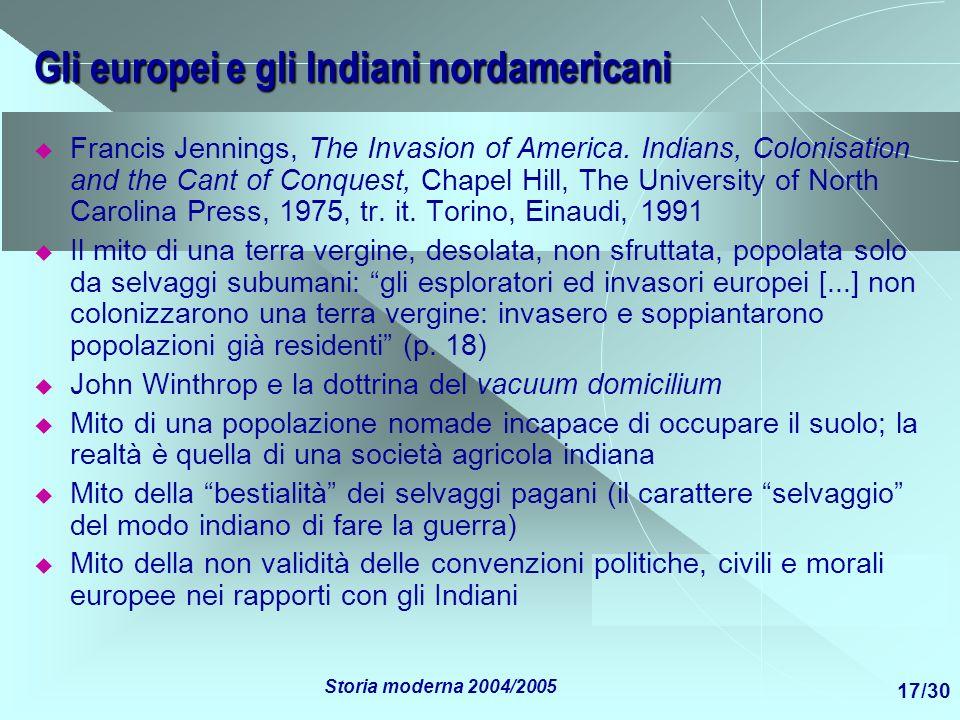 Gli europei e gli Indiani nordamericani