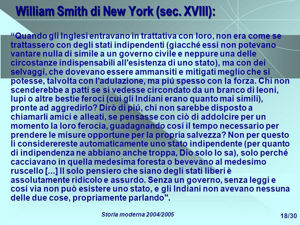 William Smith di New York (sec. XVIII):