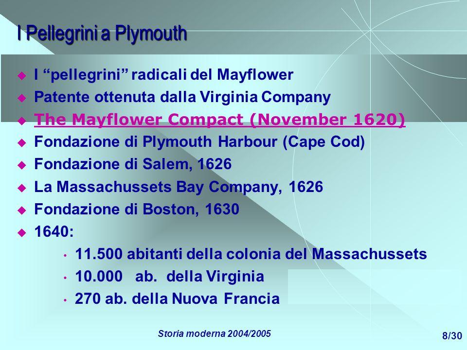 I Pellegrini a Plymouth