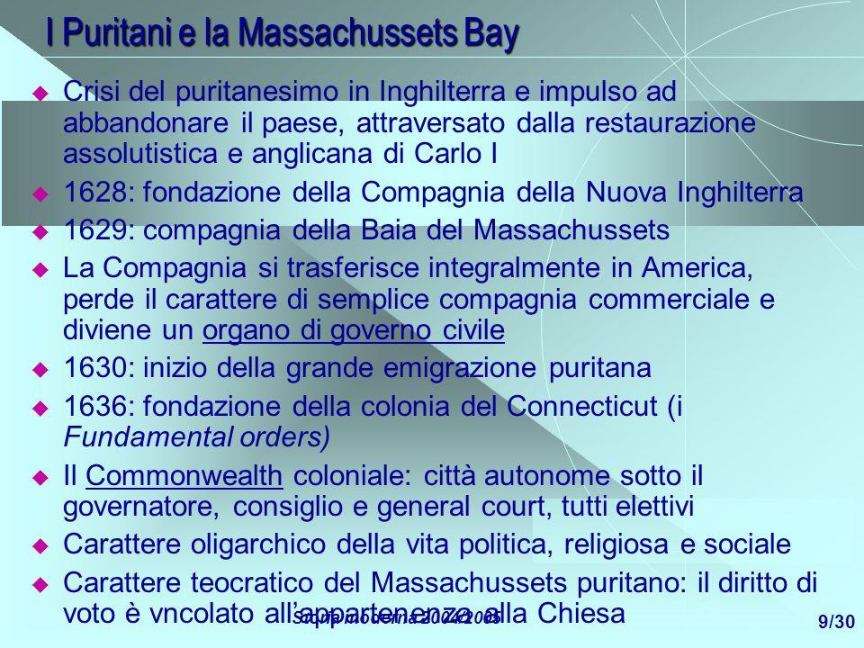 I Puritani e la Massachussets Bay