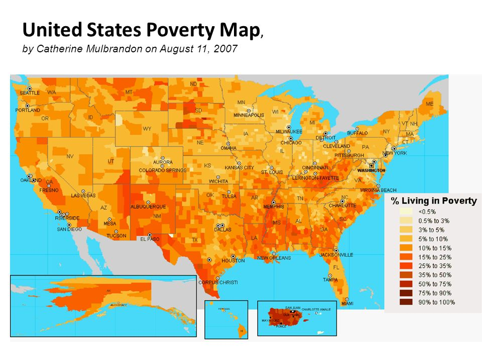 United States Poverty Map,