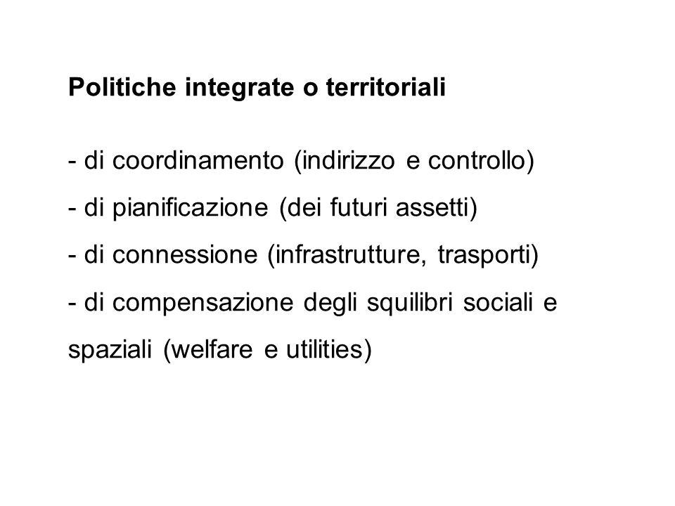 Politiche integrate o territoriali