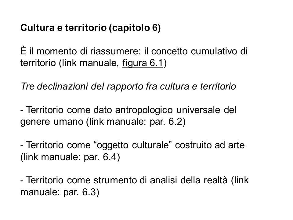 Cultura e territorio (capitolo 6)