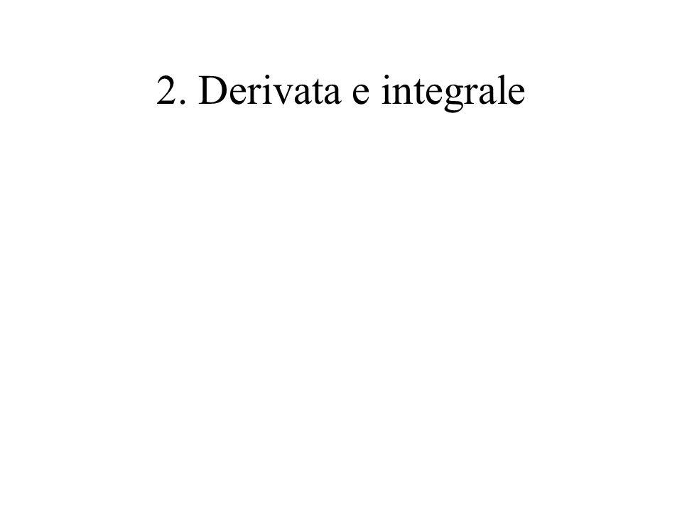2. Derivata e integrale