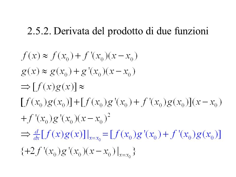 2.5.2. Derivata del prodotto di due funzioni